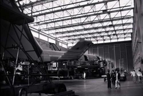 Chaînes de montage d'Airbus à Toulouse, 1988. Arch. mun. de Toulouse, 15 Fi 7921