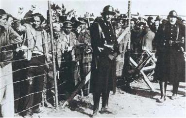 Exilés espagnols au cap d'Argelès-sur-Mer