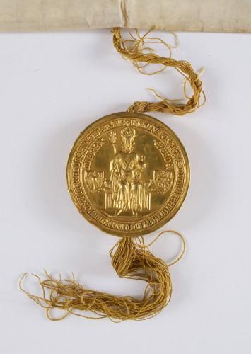 Ill. 5 : Bulle de l'empereur Charles IV, en 1378 (cliché Arch. nationales)