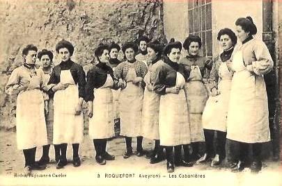Roquefort-sur-Soulzon (Aveyron) CPA Les cabanières